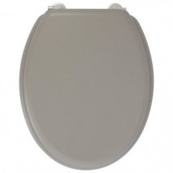 GELCO DESIGN Abattant WC Dolce - Charnieres inox - Bois moul 34990