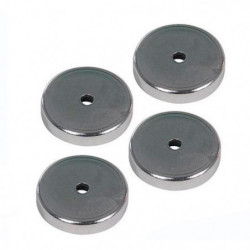 SILVERLINE Lot de 4 aimants en ferrite - Gris