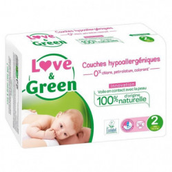 LOVE AND GREEN Couches ecolabellisées Taille 2 - 36 couches