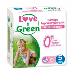 LOVE AND GREEN Culottes Taille 5 - 18 couches