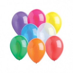 "AMSCAN Lot de 10 Ballons en latex Crystal 27,5 cm/11"" - Colo"