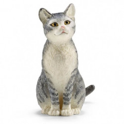 Schleich Figurine 13771 - Animal de la ferme - Chat, assis
