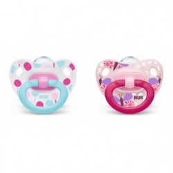 NUK 2 Sucettes Taille 3 Classic - Fille