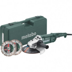 METABO Meuleuse - 230 mm WEP 2200-230 + Coffret + 2 disques