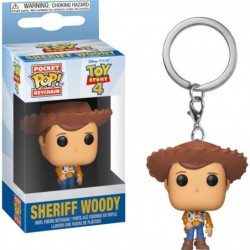 Porte-clés Funko Pocket Pop! Disney :  Toy Story 4 - Woody