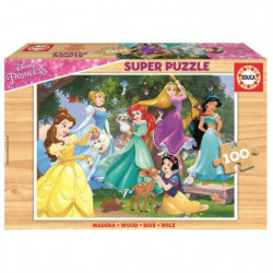 DISNEY PRINCESSES Puzzle 100 Bois Disney Princesses
