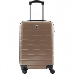 CITY BAG Valise Cabine Ultralight ABS 4 Roues Champagne