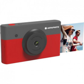 AGFA AMS23RD Mini Appareil photo imprimante 2en1 - 2*3 - Rouge