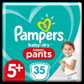 Pampers Baby-Dry Pants Couches-Culottes Taille5+, 35Culottes