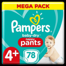 Pampers Baby-Dry Pants Couches-Culottes Taille4+, 78Culottes