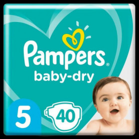Pampers Baby-Dry Taille5, 40Couches