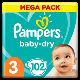 Pampers Baby-Dry Taille3, 102Couches