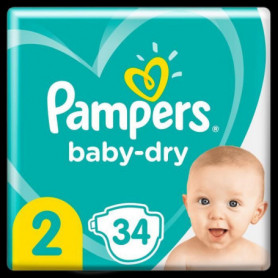 Pampers Baby-Dry Taille2, 34Couches
