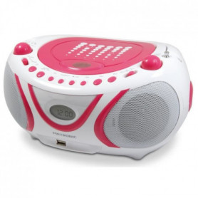 METRONIC Radio Cd-Mp3 Pop Pink