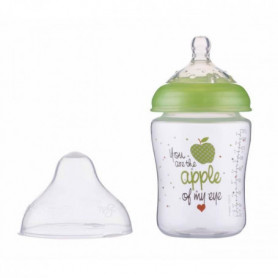 NUBY Biberon - Little Moments - Débit lent - 270 ml - Vert