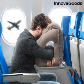 Oreiller de Voyage Gonflable Frontal Snoozy InnovaGoods