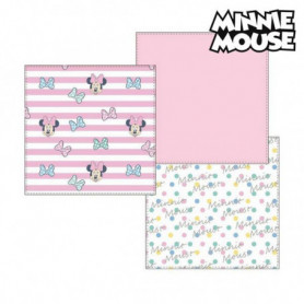 Serviette de bain en mousseline Minnie Mouse 75401 Rose (Pack de 3)