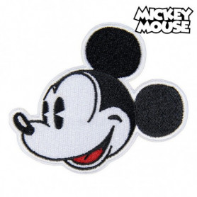 Patch Mickey Mouse Noir Blanc Polyester