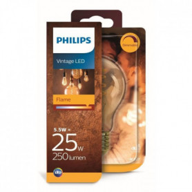 PHILIPS Ampoule LED - Vintage - Filament spirale - E27 - 5,5-25 W