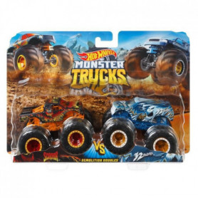 Hot Wheels - Coffret 2 véhicules Monster Truck Double Démolition