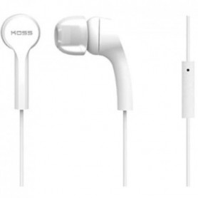KOSS Casque intra-auriculaires stéréo KEB/9iW - Blanc