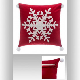 FEERIC LIGHTS & CHRISTMAS Coussin Flocon pompon - 40 cm