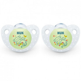 NUK 2 Sucettes SERENITY+ Silicone 18-36m Phospho