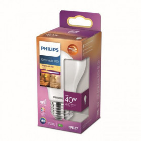 Philips ampoule LED Equivalent 40W E27. Blanc chaud. Dimmable. verre