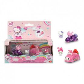 HELLO KITTY Coffret Scooter et Voiture + 2 figurines
