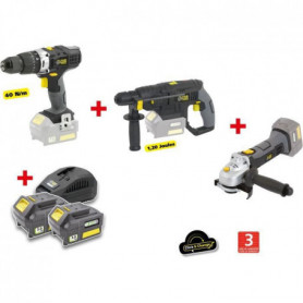 X-FIT PACK « GROS oeUVRE » 3 machines 18V + 2 batteries 18V 3.0Ah : Perceuse per