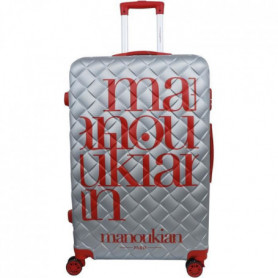 MANOUKIAN Valise Chariot 8 roues 72 cm ABS Rouge/Argent